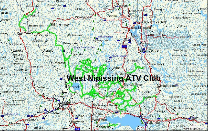 West Nipissing ATV Club Trails and Tracks